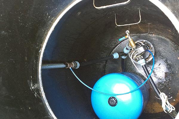 Обвязка скважины в кессоне